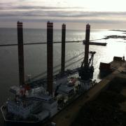 Sea installer som er DONG Energy specialbyggede mølleinstallationsfartøj.